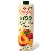 Meysu Meysu 100% Appel en Perzik sap 1L