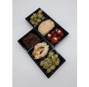 Fazil Sahin oriëntaalse delicatessen Tappas schaal met 3 soorten tappas