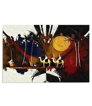 Schilderij Egyptisch landschap , 4 maten , multikleur (wanddecoratie)