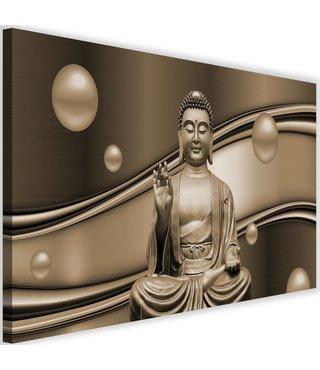 Schilderij Mediterende Boeddha IV, 2 maten , bruin (wanddecoratie)