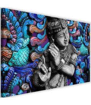 Schilderij Mozaïek Boeddha ,2 maten , multikleur (wanddecoratie)