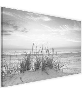 Schilderij Duingras, 2 maten, zwart-wit, Premium print