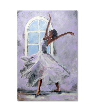 Schilderij Ballerina bij het raam, 4 maten