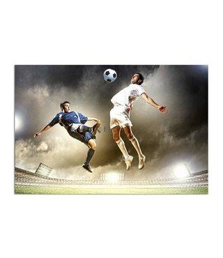 Schilderij Twee voetbalspelers, 2 maten