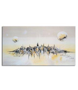 Schilderij Abstracte stad van de toekomst, 4 maten