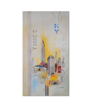 Schilderij Abstracte stad New York, 4 maten