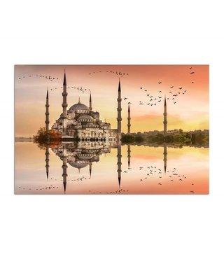 Schilderij Moskee met weerspiegeling, 4 maten