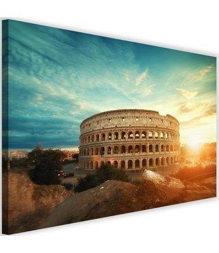 Schilderij Colosseum bij zon opkomst, 2 maten