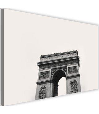 Schilderij Arc du triomphe, 2 maten, zwart/wit