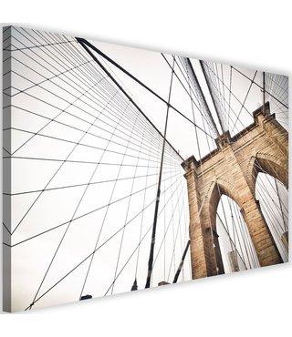 Schilderij Brooklyn bridge new design, 2 maten