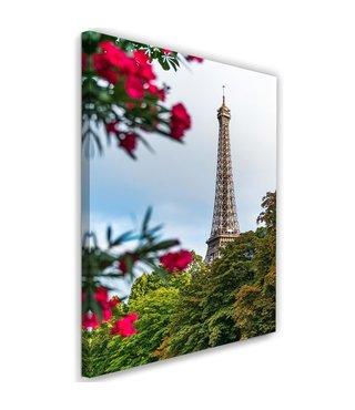 Schilderij Eiffeltoren achter bomen, 2 maten