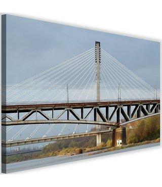 Schilderij Twee bruggen naast elkaar, 2 maten