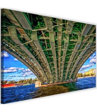 Schilderij Onder een metalen brug, 2 maten