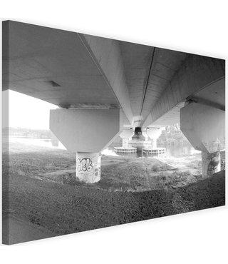 Schilderij Onder een brug, 2 maten, zwart/wit