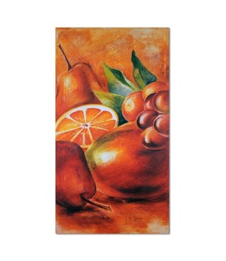 Schilderij Vers fruit, 4 maten, oranje/groen