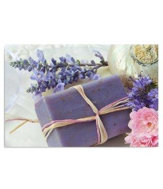 Schilderij Lavendel zeep, 4 maten, beige/paars