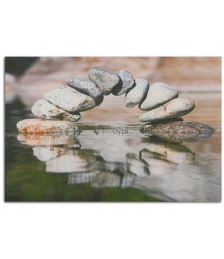 Schilderij Boog van stenen over water, 2 maten