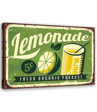 Schilderij Uithangbord Lemonade, 2 maten, groen/geel