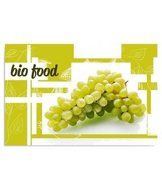 Schilderij Witte Druiven, 4 maten, Groen-Wit (wanddecoratie)