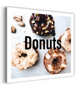 Schilderij Donuts, 80x80cm
