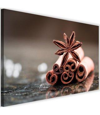 Schilderij Kaneelstokjes, 2 maten, bruin/zwart (wanddecoratie)