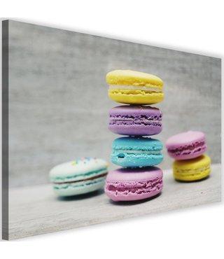 Schilderij Gekleurde macarons, 2 maten (wanddecoratie)