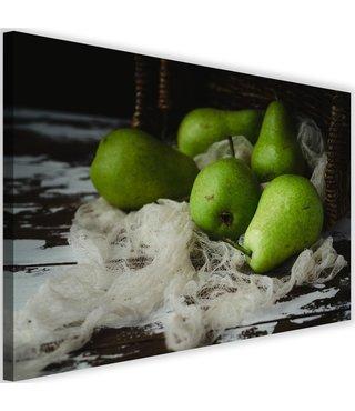 Schilderij Groene peren, 2 maten (wanddecoratie)