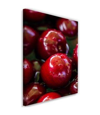 Schilderij Sappige kersen, 2 maten, rood (wanddecoratie)