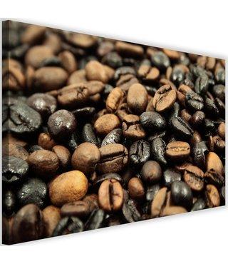 Schilderij Zwart en bruine koffiebonen, 2 maten (wanddecoratie)