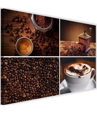 Schilderij Koffie fases, 2 maten, bruin (wanddecoratie)