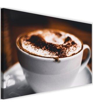 Schilderij Cappuccino, 2 maten, bruin/wit (wanddecoratie)