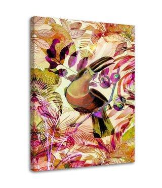 Schilderij Toekan op stok, 2 maten, multi-gekleurd (wanddecoratie)