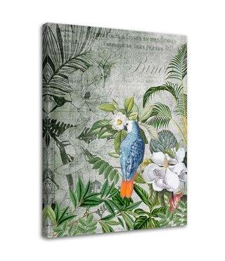 Schilderij Blauwe papegaai, 2 maten (wanddecoratie)