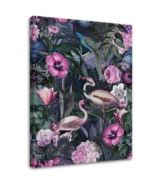 Schilderij Roze vogels, 2 maten (wanddecoratie)