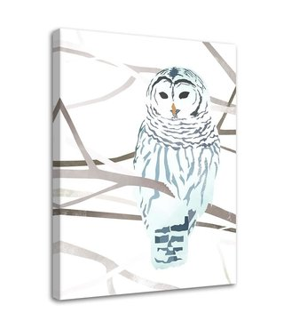 Schilderij Sneeuw uil, 2 maten (wanddecoratie)