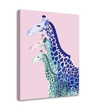 Schilderij 3 giraffen, 2 maten, multi-gekleurd (wanddecoratie)