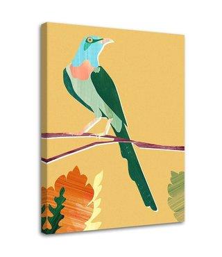 Schilderij Kleurrijke vogel, 2 maten (wanddecoratie)