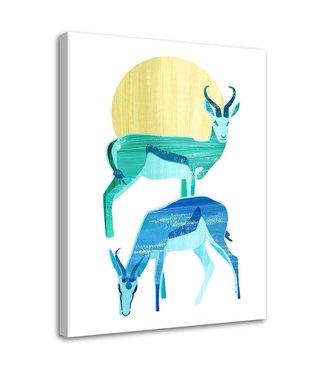 Schilderij Twee antilopes, 2 maten (wanddecoratie)