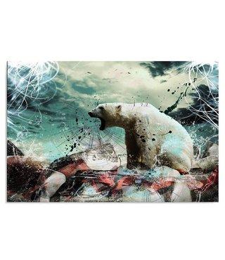 Schilderij IJsbeer, 4 maten (wanddecoratie)