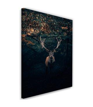 Schilderij Hert in de bosjes, 2 maten (wanddecoratie)
