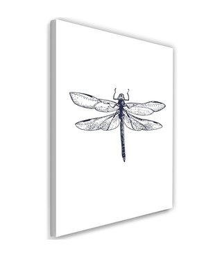 schilderij Libelle, 2 maten (wanddecoratie)