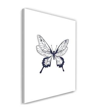 Schilderij Vlinder, 2 maten (wanddecoratie)