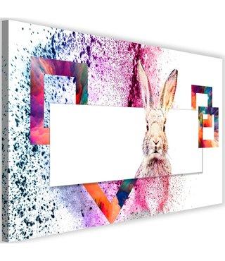 Schilderij Verlegen konijn II, 2 maten, multi-gekleurd (wanddecoratie)