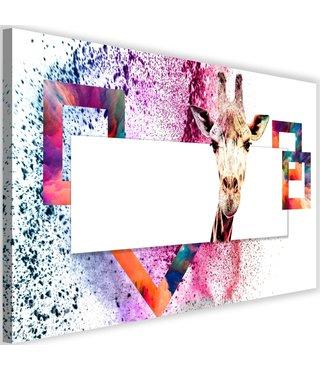 Schilderij Nieuwsgierige giraf II , 2 maten, multi-gekleurd (wanddecoratie)