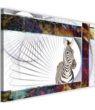 Schilderij Zebra, 2 maten, multi-gekleurd (wanddecoratie)