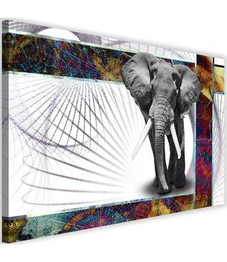 Schilderij Krachtige olifant, 2 maten, multi-gekleurd (wanddecoratie)