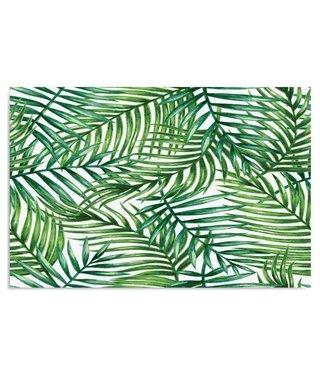 Schilderij Palm bladeren, 4 maten, groen-wit