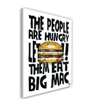 Schilderij - People are hungry, multi-gekleurd, 2 maten, tekst op canvas