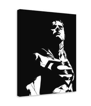 Schilderij , Superman 2, Film personage , 2 maten , wit zwart , Premium print