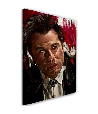 Schilderij , Pulp Fiction , John Travolta , 2 maten , multikleur , wanddecoratie , Premium print